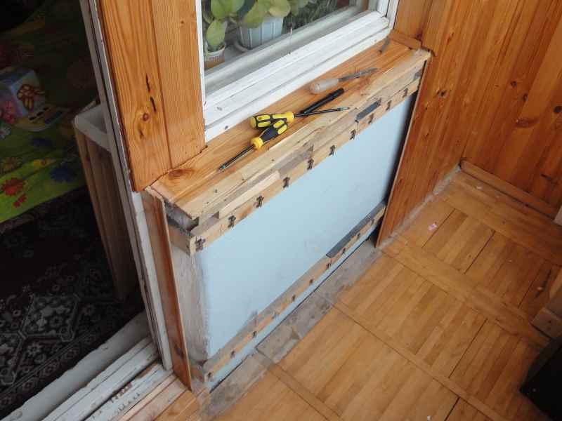 Ящик-скамья на балкон своими руками.