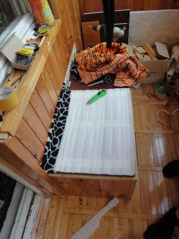Как я делал ящик-скамейку на балконе..