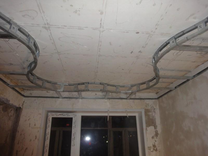 Как сделать двухуровневые потолки из гипсокартона и натяжного 790