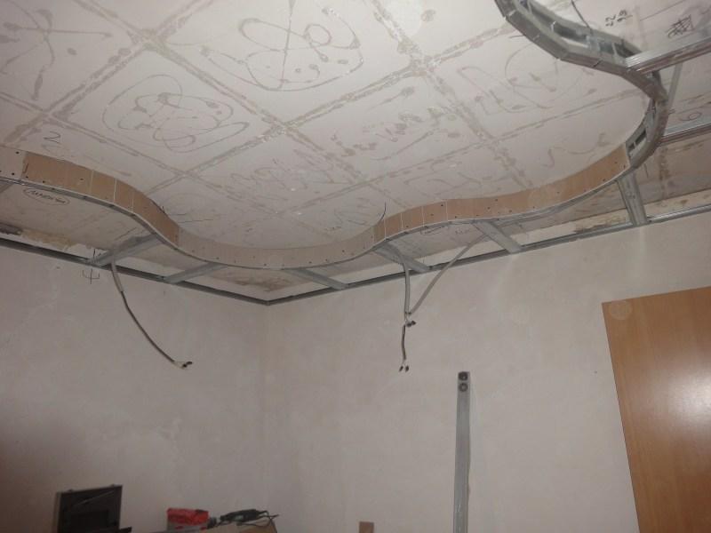 Как сделать фигурный потолок своими руками