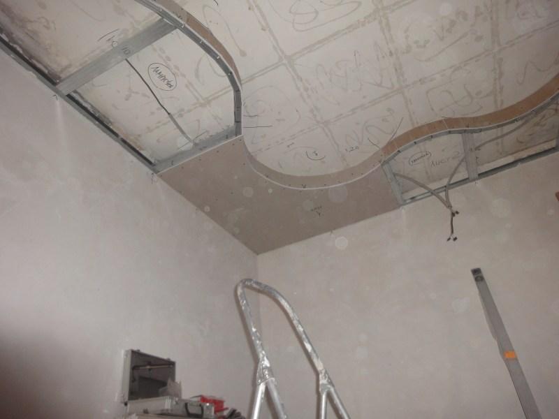 Как сделать из гипсокартона фигурный потолок